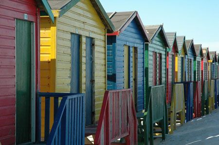 cabines de plage en Afrique du sud