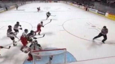Referee assists Czech Republic goal against Canada