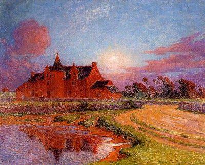 Moonlight Over Kervaudu- Ferdinand du Puigaudeau (1864-1930) French Impressionist Painter
