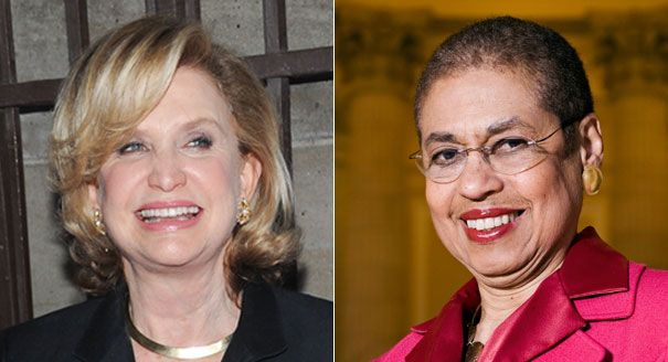 Congresswomen Carolyn Maloney and Eleanor Holmes Norton walked out of a House oversight committee hearing on the contraceptive coverage rule Thursday morning, accusing Chairman Darrell Issa of manipulating committee rules to block female witnesses from testifying.