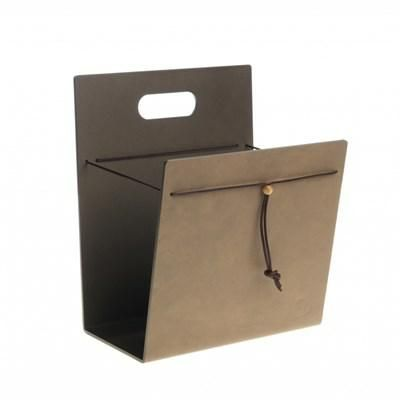 Lind DNA magazine holder - brown / bronze