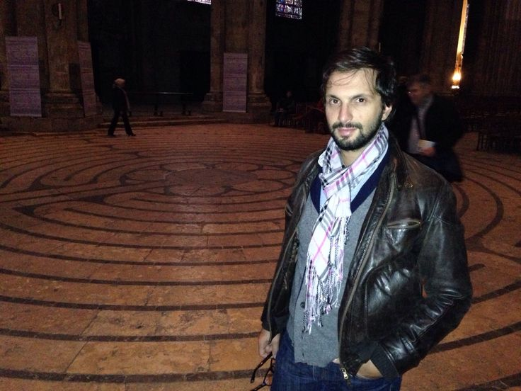 Chartres (France), me in the labyrinth of the cathedral