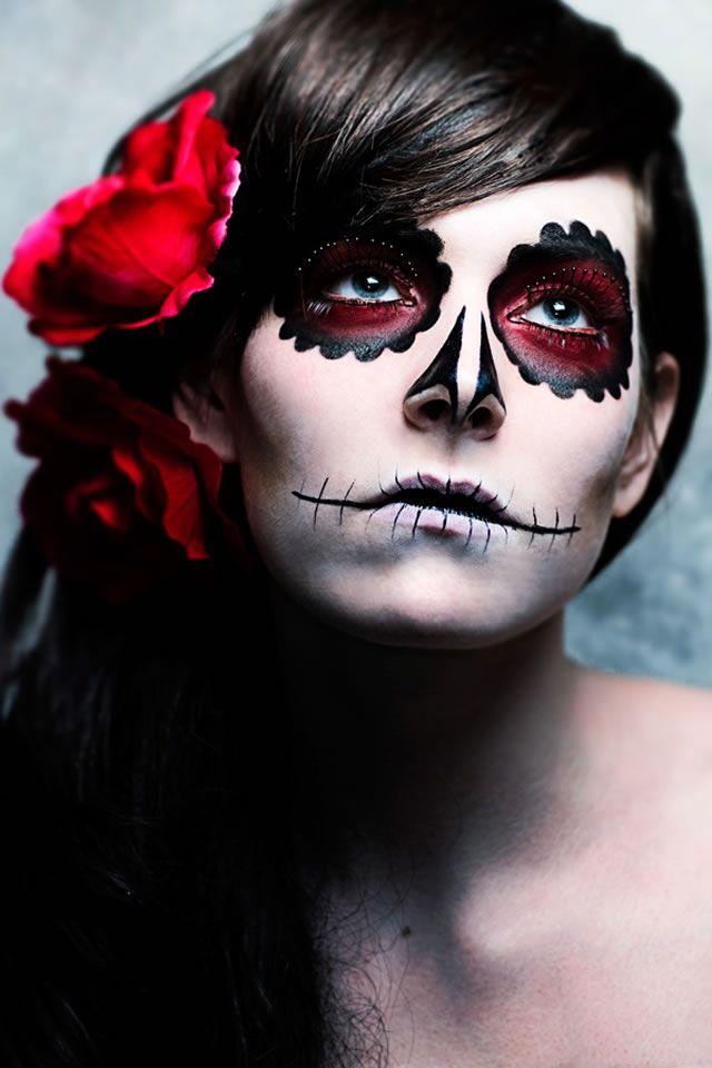 sugar skull makeup wallpaper - photo #6