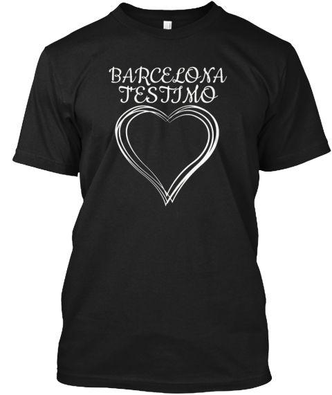 Barcelona T'estimo Love Catalonia Shirt Black T-Shirt Front
