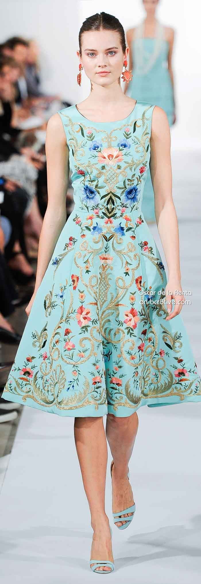 Oscar de la Renta Spring 2014 | Add some colors to your style | The Lady in in Teal | #Thejewelryhut