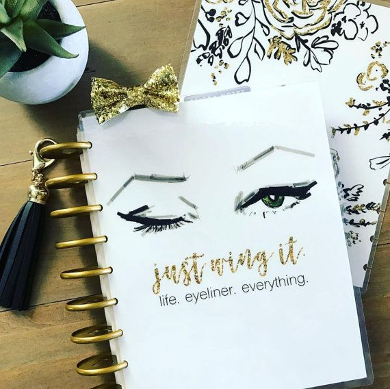 Makeup Planner Cover: Erin Condren Planner Cover, Happy Planner Cover and Recollections Planner Cover Sizes Available