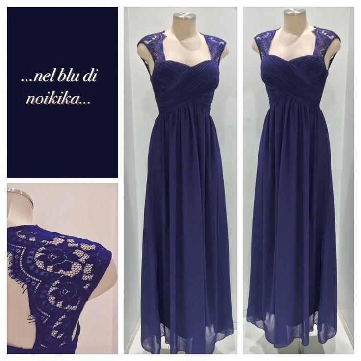Un tuffo nel blu dipinto di blu... Nei nostri stores #dress #abiti #fashion #moda #cerimonie #diciottesimi #feste #party  #blu #lungo #prom #donna #ragazza