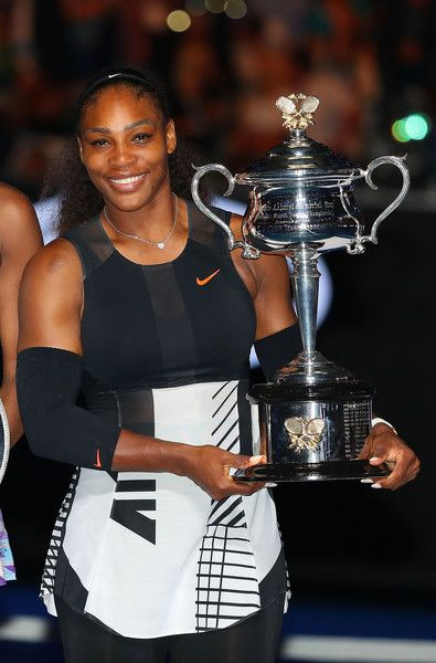 Serena Williams Photos - Serena Williams poses with the Daphne Akhurst Trophy after winning the Women's Singles Final against Venus Williams of the United States on day 13 of the 2017 Australian Open at Melbourne Park on January 28, 2017 in Melbourne, Australia. - 2017 Australian Open - Day 13