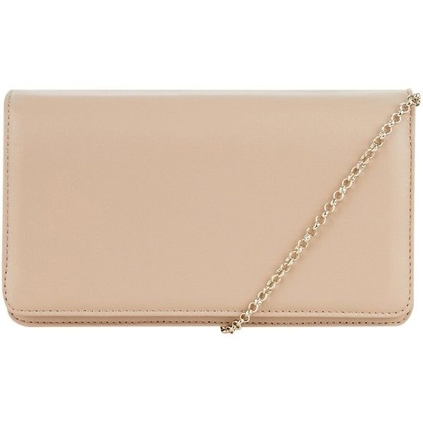 Hobbs Kensington Clutch Bag, Light Nude ($145) ❤ liked on Polyvore featuring bags, handbags, clutches, leather purse, nude clutches, leather handbags, evening handbags and beige handbags