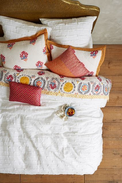 Spliced Linen Duvet - anthropologie.com