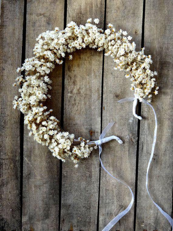 Dried Glixia Bridal Flower Crown - Wedding Crown - For Brides, For Bridesmaids - Bridal Accessories