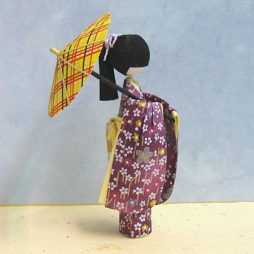 3D Japanese Paper Doll