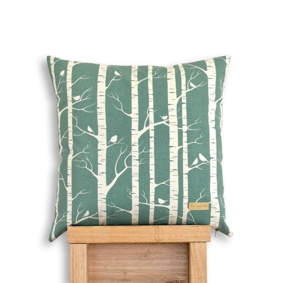 Birch Forest  Organic cotton screen printed cushion cover in