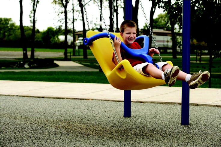 Accessible Swings from BYO Recreation make playgrounds fun for everyone!