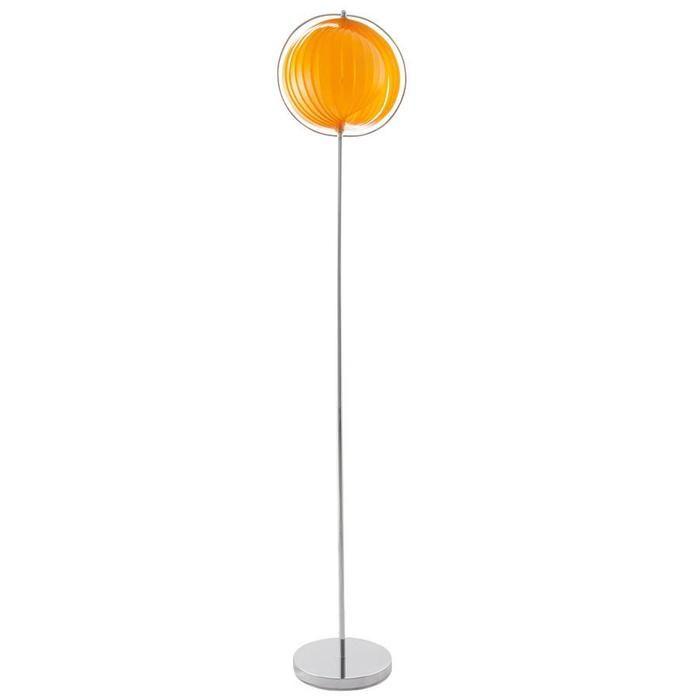 Orange Retro Big Floor Lamp