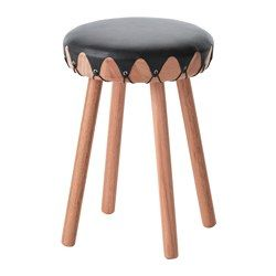 IKEA   TILLFÄLLE, Stool, The Soft Padding And Leather Cover Adds To The  Comfort