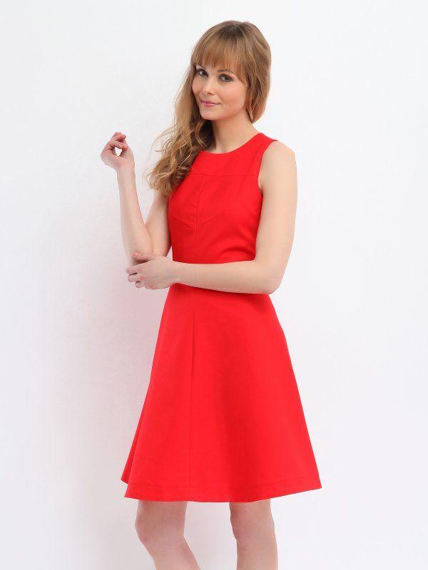 Женское платье красное, темно-синее  SSU0973 платье TOP SECRET - интернет магазин одежды Top Secret
