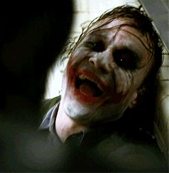 The Dark Knight: The Joker laughing while being tortured by Batman. How can you beat a man laughing at pain and thriving at it?