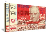 1940 Michigan vs. Michigan State Football Ticket Art on canvas. Christmas football gifts! The best Christmas gifts for football fans! When you think football Christmas gifts, think 47 STRAIGHT.™ Our football ticket coasters are printed in the U.S.A. and ship within 24 hours. Made from historic football tickets. Best Christmas football gifts in America! http://www.christmasfootballgifts.com/ Christmas football gifts!