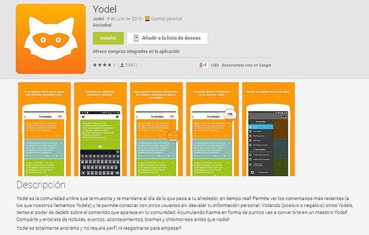 yodel app - Buscar con Google