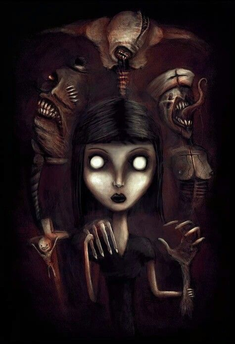 """""""Welcome to my world"""" Horror/Macabre Digital Painting. # ..."""