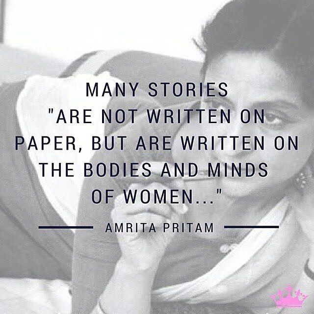 "repost @kaurista  ""Amrita Pritam (1919  2005) was the first prominent female #Punjabi #poet #novelist and #essayist. Her explicitly #feminist work acknowledges women's desires and independence -- inspiring women to take responsibility of their lives!"" #strongwomen #kaur  #Kaurista #quote @kaurista"