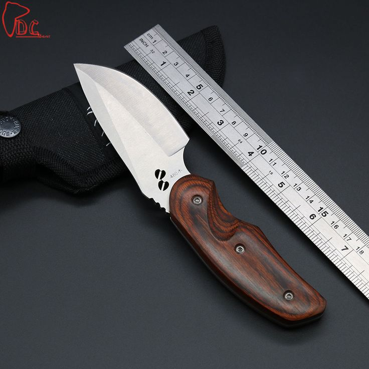 Dcbear New Fixed Blade Knife 8CR13MOV Steel Camping Knife Outdoor Tops Knife Tactical Survival Knives Rescue Tool SF044#