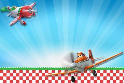 Uçaklar Disney (Uçaklar) - tatlılar, hediyelik eşya ve resimler için davetiyeler, etiketler için çerçeveler Mini Kiti. - Bizim Partisi Yapımı