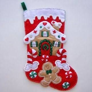 Resultado de imagen para patrones de botas navideñas en fieltro