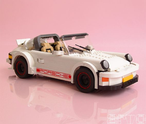 A Porsche 911 built out of legos. Good way to get children involved with design. Have LEGO's Crabtree become involved?