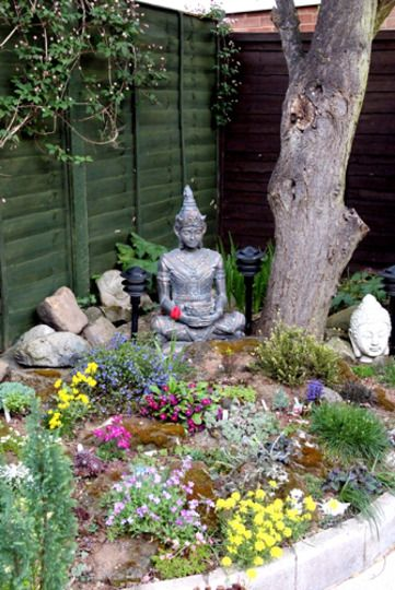 best 25 buddha garden ideas on buddah statue small