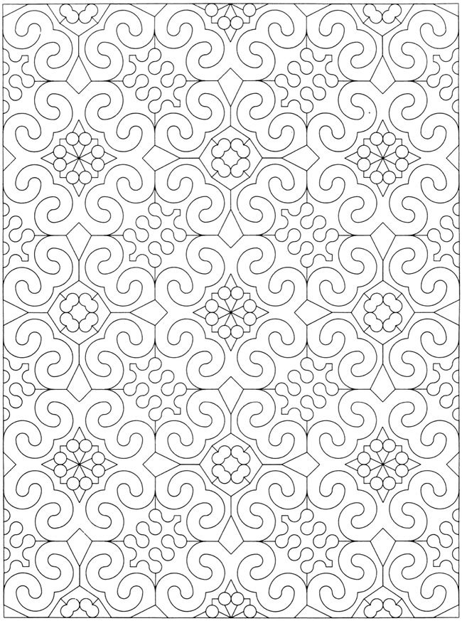 Welcome to Dover Publications - Creative Haven Geometric Allover Patterns Coloring Book / artwork by Ian O. Angell