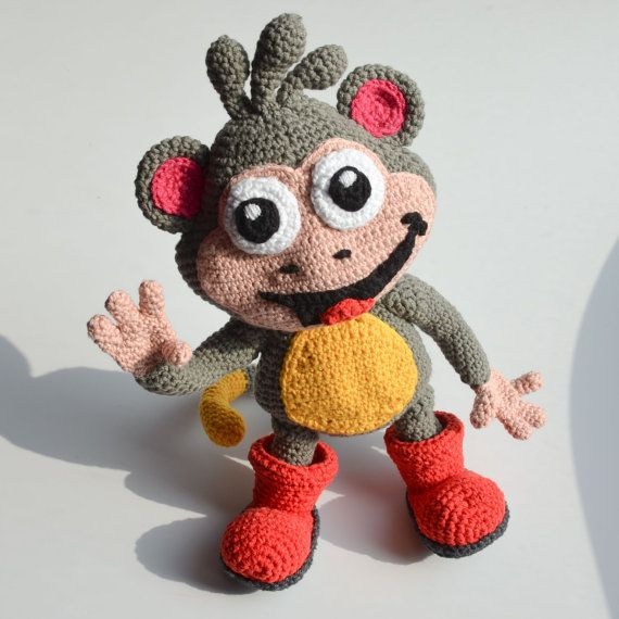 Crochet PATTERN - Boots from Dora the explorer by Krawka
