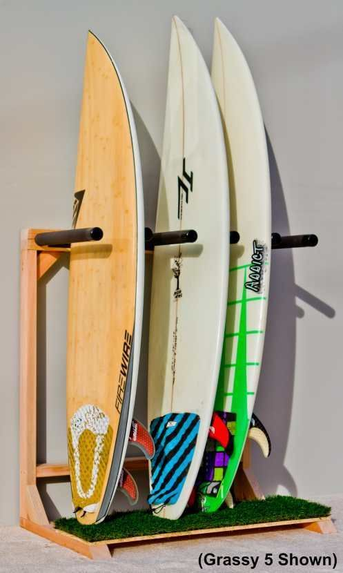 Woody  Self Standing Surf Rack   Free Standing Surfboard Storage For 5 Or 7  Boards.
