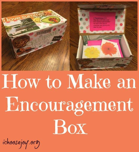 How to Make an Encouragement Box