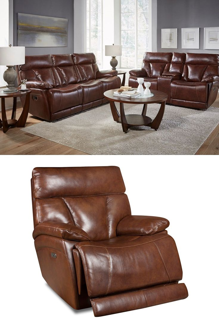 This Power Reclining Headrest Sofa With Power Lumbar Will Offer You The Comfort That You Re Looking For In Reclining Sofa Mattress Furniture Power Recliners