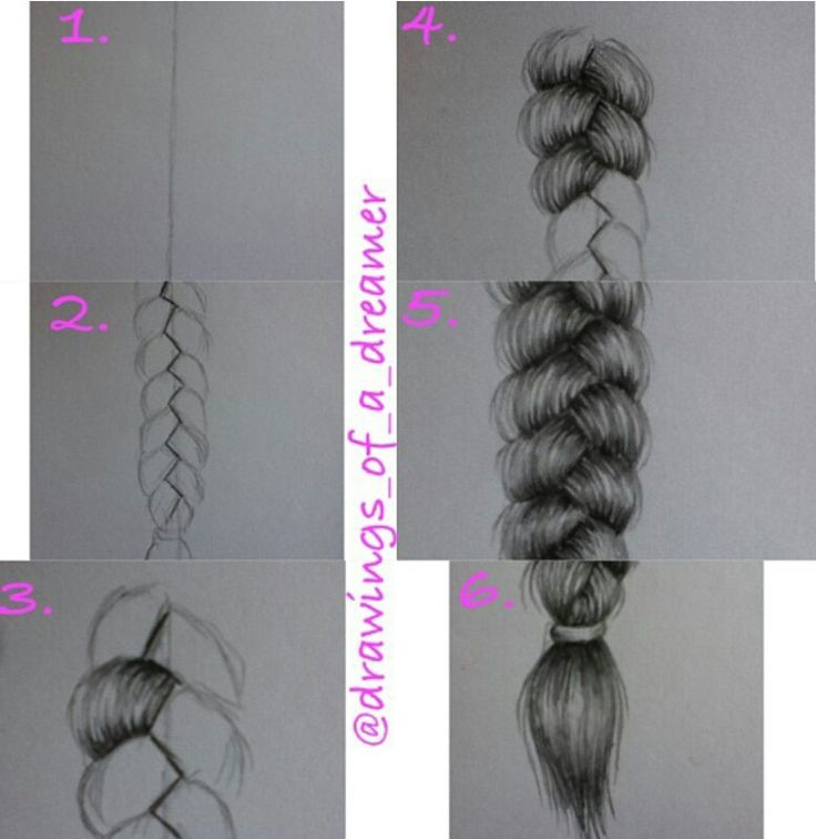 How to draw a Braid step by step Let's be pinterest buddy's, let's follow eachother :D