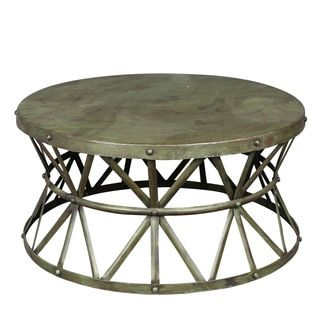 Wanderloot truss green distressed industrial metal coffee table - 1000 Ideas About Metal Coffee Tables On Pinterest Brass