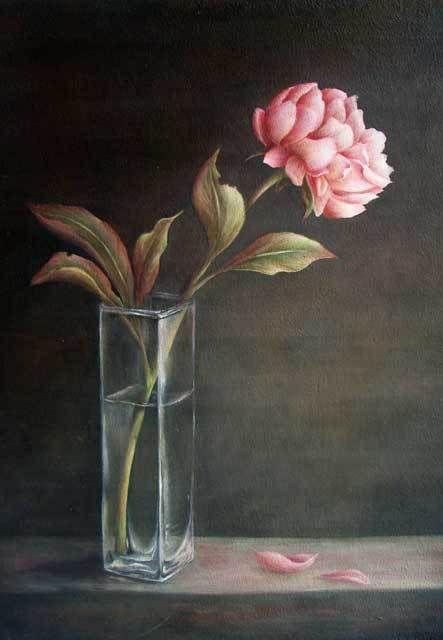 Pivoine dans un vase - Sharon Hamilton, MDA