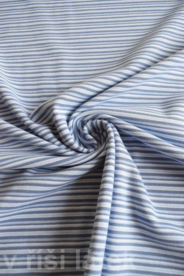 Finerib el. bavlna – proužek ocelově modrý - http://vrisilatek.cz/produkt/finerib-el-bavlna-prouzek-ocelove-modry/