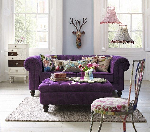 Colorful Chesterfield Sofas: Beautiful Violet Chesterfield Sofas ~ Decoration Inspiration