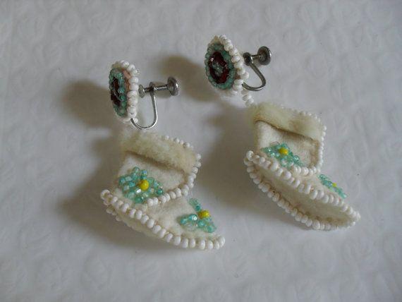 Vintage Handmade Eskimo or Native American Beaded by RetroRixie, $16.00