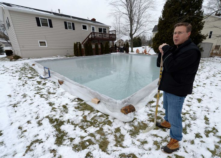 Building a do-it-yourself rink | Backyard, Building ...