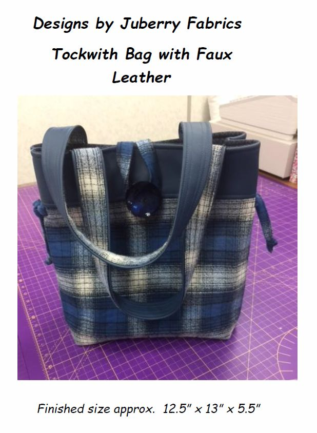 Tockwith Bag Pattern with Faux Leather by Juberry Fabrics