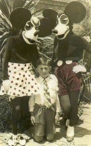 Micky and Minnie mouse costumes in the 1930s