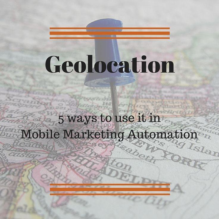 5 powerfull ideas to use the geolocation in mobile marketing [...] #geolocation #CRM #CRMforMobile #MobileMarketingAutomation