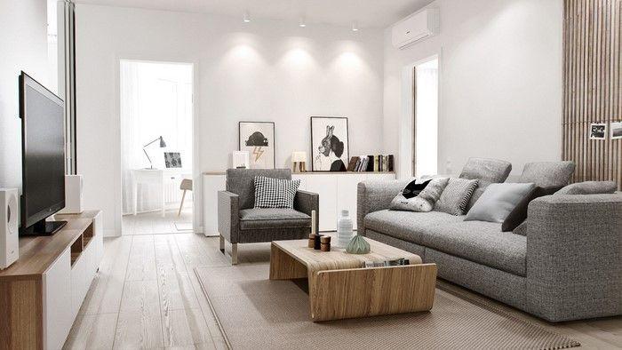 Wohnzimmereinrichtung In Weiss 80 Wunderschone Ideen Grey Sofa