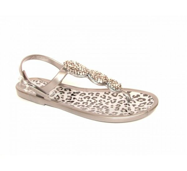 The ultimate jelly sandal and favourite at holster head office. Embellished with intricate shimmery glass beading and featuring a leopard print insole, these may just be the perfect day to night-time jelly. £49.99