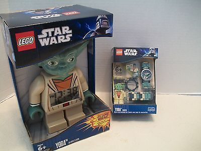 Lego 9002069 Star Wars Yoda Watch & Alarm Clock Bundle 2 NIB 2010-2011!