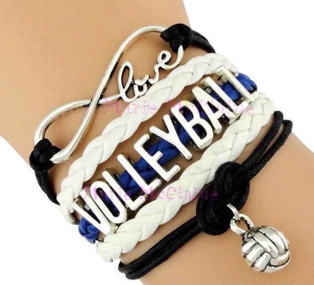 Volleyball Bracelet - Royal/White